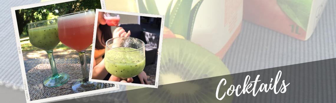 Cocktail avec l'Aloe Peach